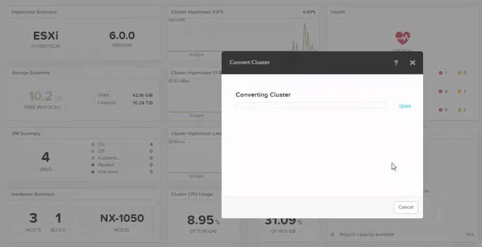 Nutanix Cluster Hypervisor Conversion From VMware ESXi to Nutanix AHV Hypervisor